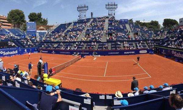 Imagen del partido entre Djokovic y Klizan.