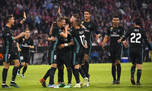 Celbracion del gol del Real Madrid