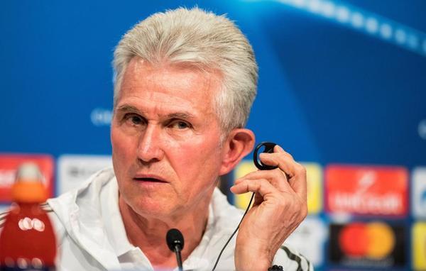Jupp Heynckes durante la rueda de prensa previa al partido de Champions League
