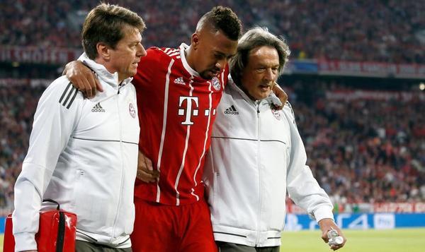 Momento de la lesión de Boateng