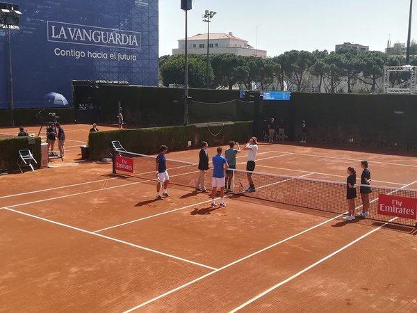 Imagen del partido de dobles.