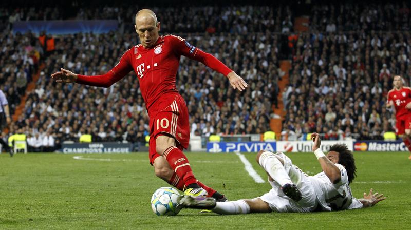 Robben, durante un partido con el Bayern