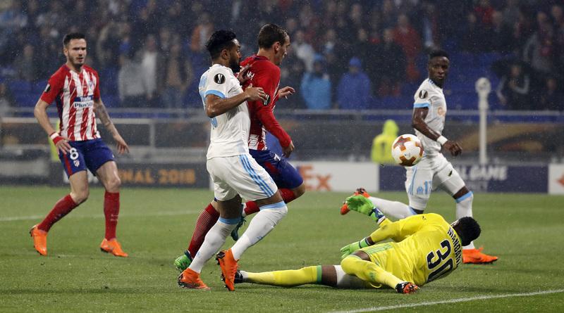 La picadita de Griezmann en el segundo gol. Foto de J.A. Sirvent.