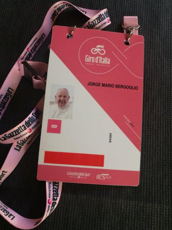El papa Francisco, invitado hoy en el Giro