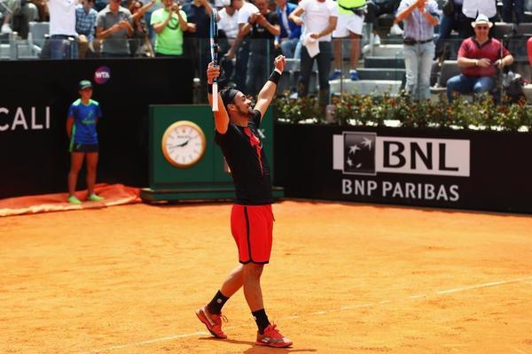 Fabio Fognini ya espera en cuartos al mejor del Nadal-Shapovalov. Venció a Gojowczyk por 6-4 y 6-4. FOTO: GETTY