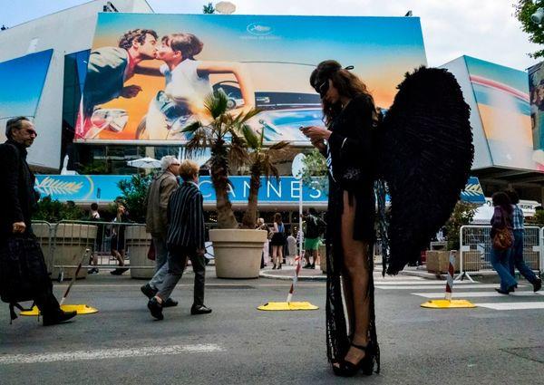 Fuori dal palazzo del Festival - foto Getty Images