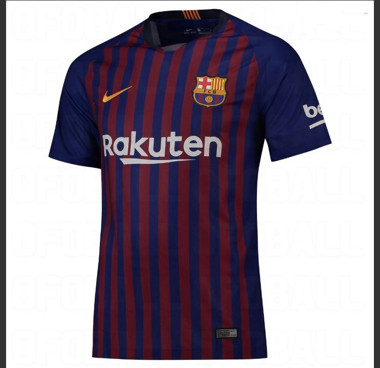 La nueva camiseta del Barça para la camiseta 2018-2019