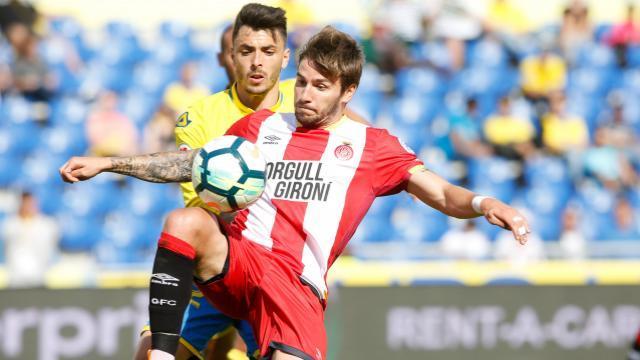 Portu estuvo activo en todos los ataques del Girona. LFP