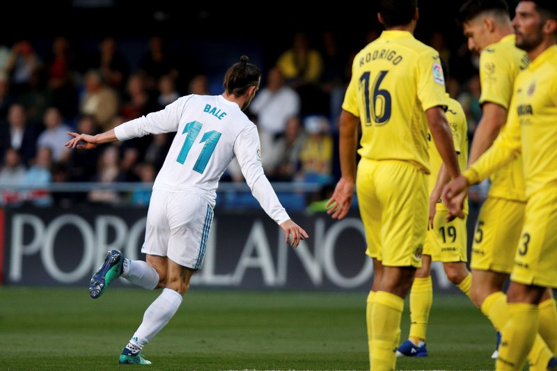 Así celebró Gareth Bale el primer gol del Real Madrid (EFE)