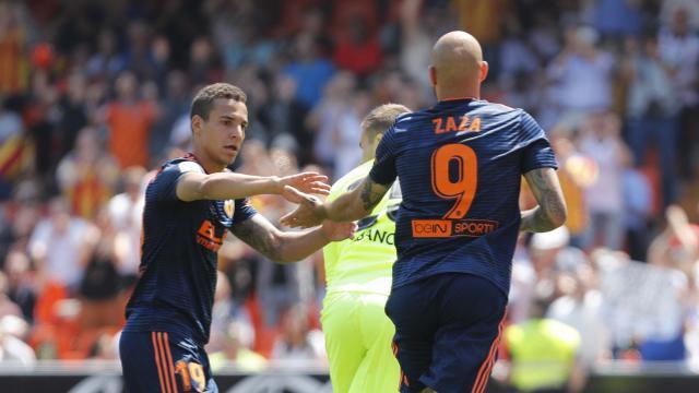 Zaza pudo marcar su último gol en Mestalla. LFP