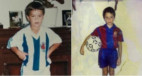 Xabi Prieto y Andrés Iniesta, de niños