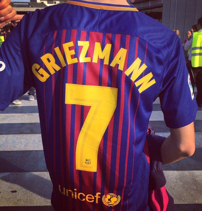 'Griezmann', en el Camp Nou... FOTO: @EnzoOlivera