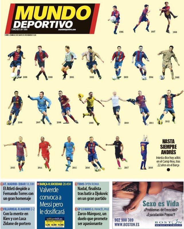 La portada de MD en honor a Iniesta