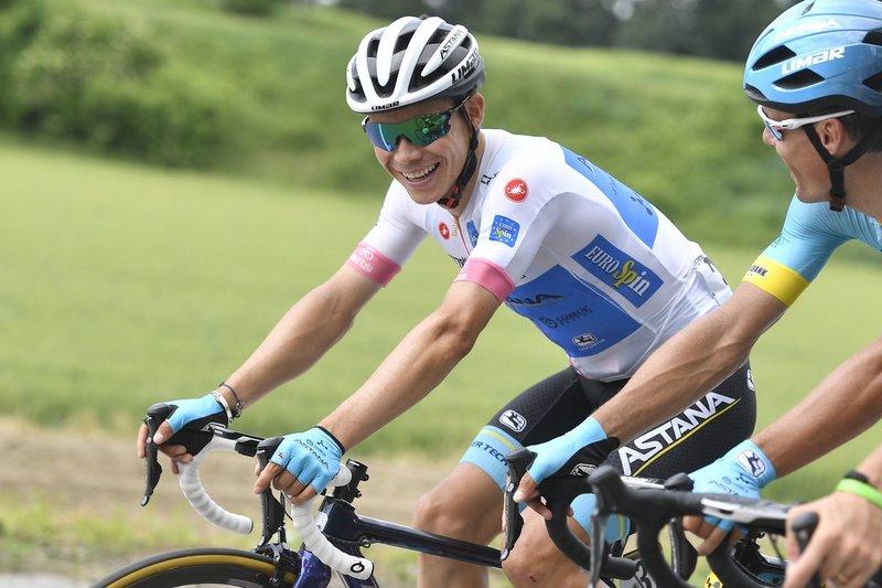 MIGUEL ÁNGEL LÓPEZ (Astana) es uno de los favoritos que ha anunciado que lo va a probar en Prato Nevoso. El colombiano quiere acercarse al podio en el Giro de Italia
