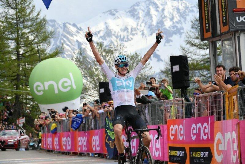 CHRIS FROOME (Sky), ganador de la etapa y nuevo líder de la general del Giro de Italia