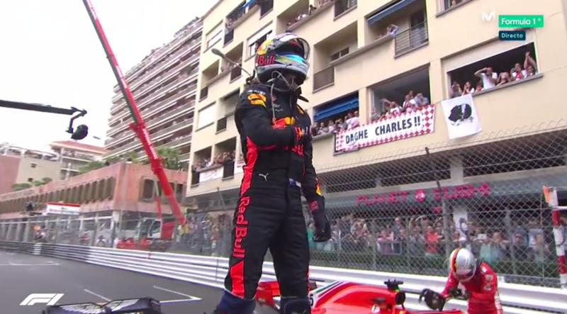 Ricciardo celebrando.