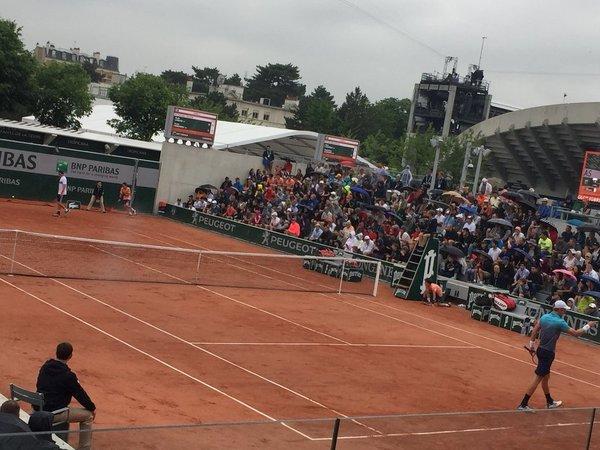 La lluvia vuelve a parar los partidos en Roland Garros