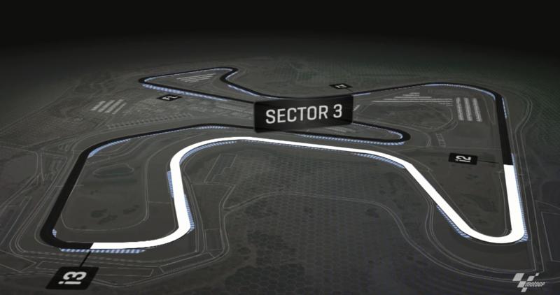 Podemos ver el sector 3  del circuito de Jerez-Angel Nieto, que ha sido clave a la hora de marcar el mejor tiempo.