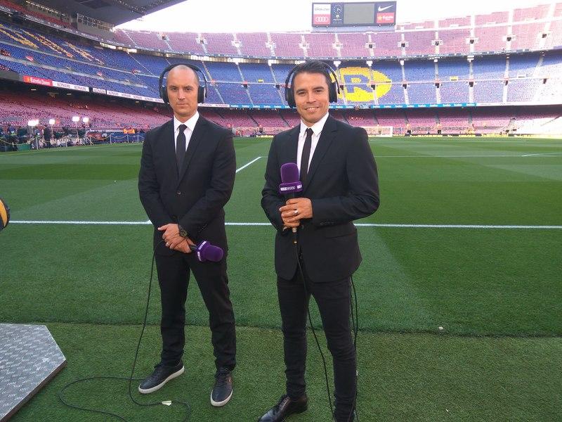 Javier Saviola, ex jugador del Barça, hoy en el Clásico como comentarista de beIN Sports FOTO: PEP MORATA