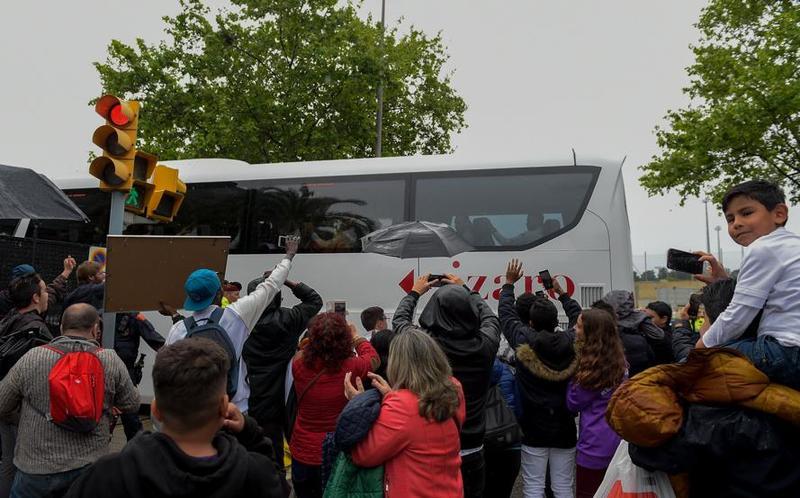 Llegada dle Madrid a Barcelona este domingo. FOTO: GERARD FRANCO