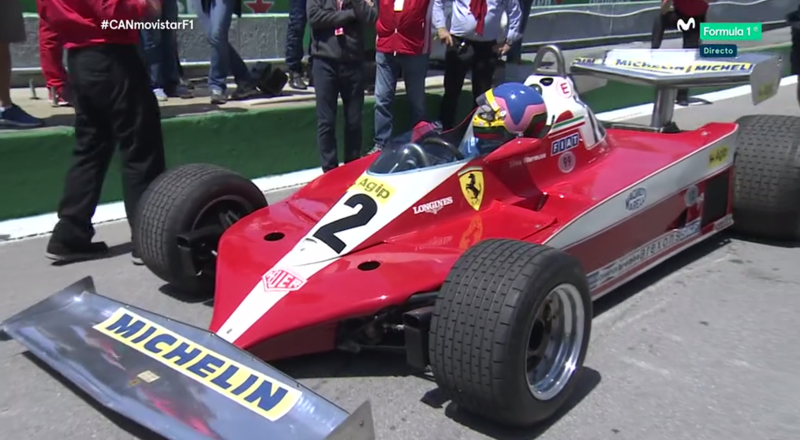 Jacques Villeneuve en el monoplaza de su padre.
