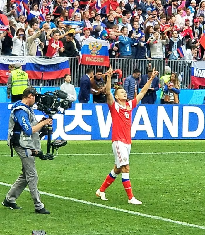 Así celebró Cheryshev el segundo tanto. TeamRussia