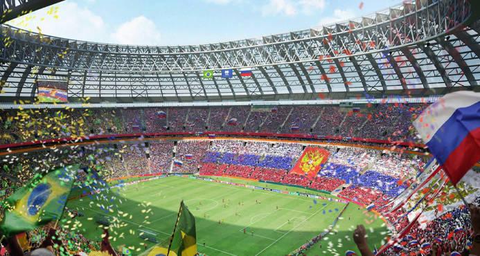 El estadio ha lucido unas galas de lujo en la ceremonia inaugural del Mundial FOTO: EFE