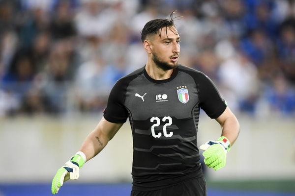 Donnarumma, durante un partido con la selección italiana