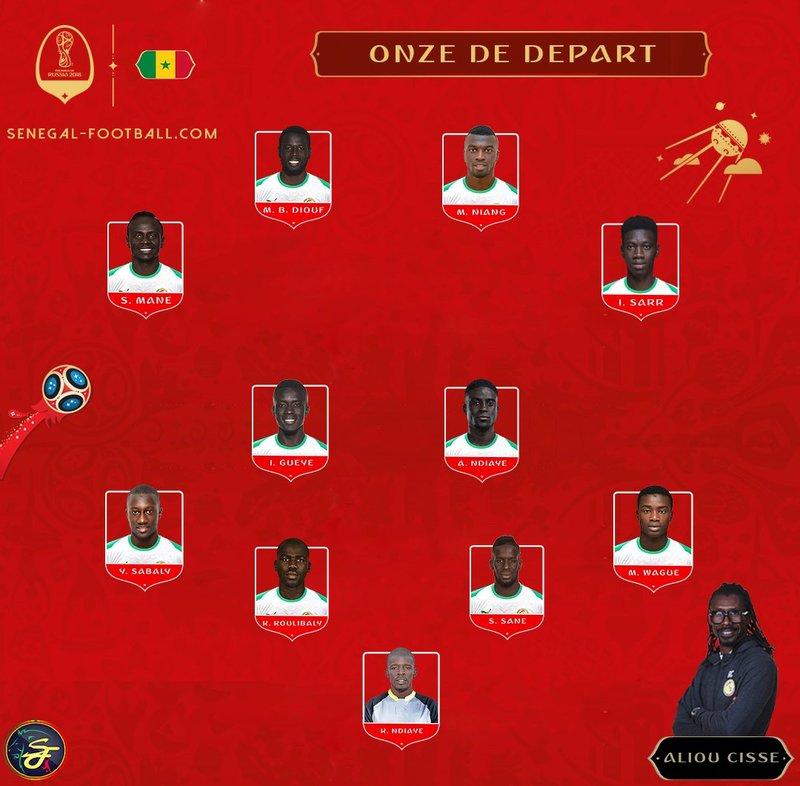 Así anunció Senegal su formación por las redes. SenegalFootball