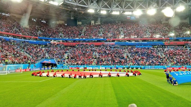 Ambientazo en el Estadio Krostevski. TeamRussia