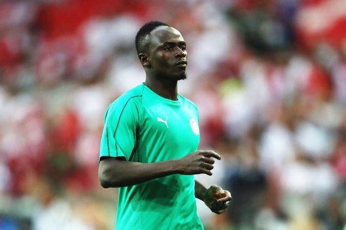 Poca participación del 'capi' Mané hasta el momento. SenegalFootball