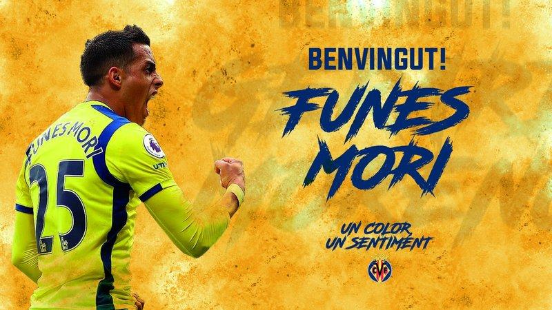 Funes Mori, firma por el Villarreal. Twitter