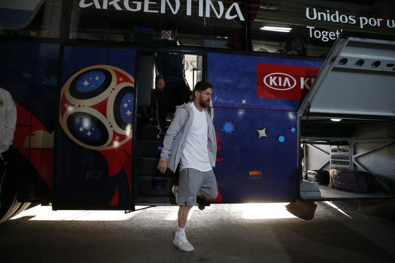 Lionel Messi, en el punto de mira. Argentina