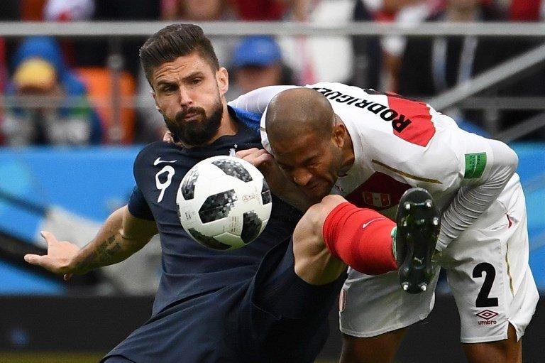 Giroud fue el mejor de Francia. equipedefrance