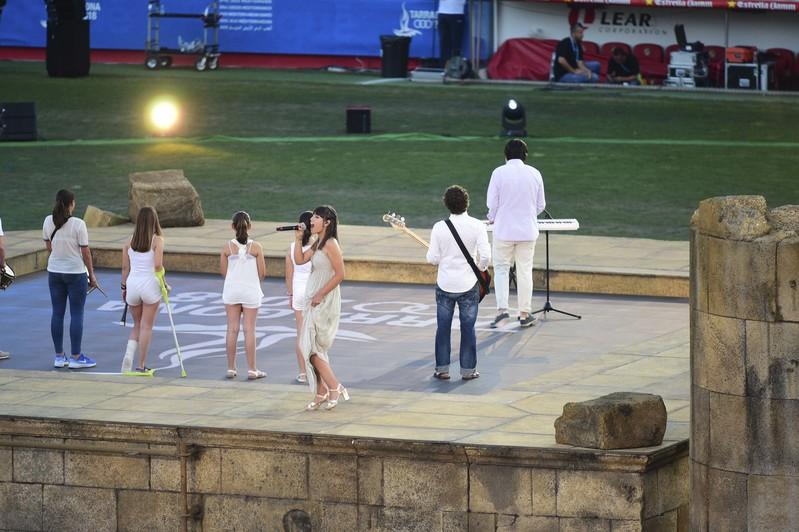 Así se ha interpretado el himno de los Juegos Mediterráneos (EFE)