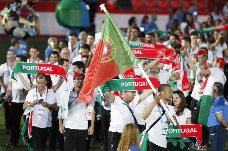 Otra imagen del desfile. Esta, de la delegación de Portugal (EFE)