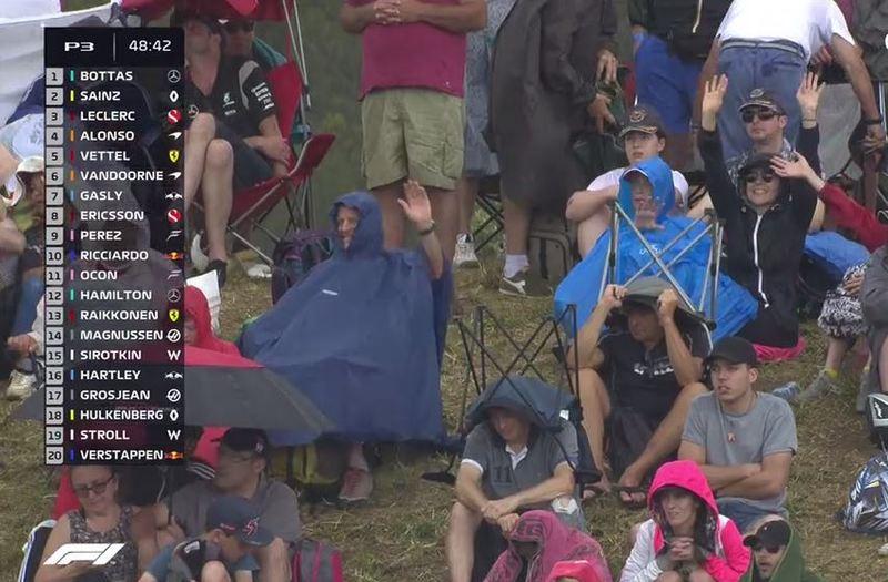 El público, pasando frío