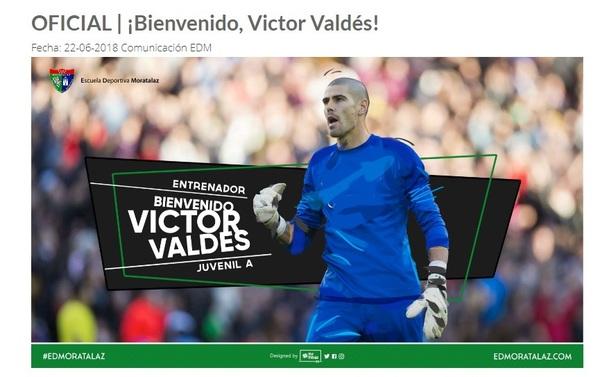 Anuncio de la contratación de Valdés