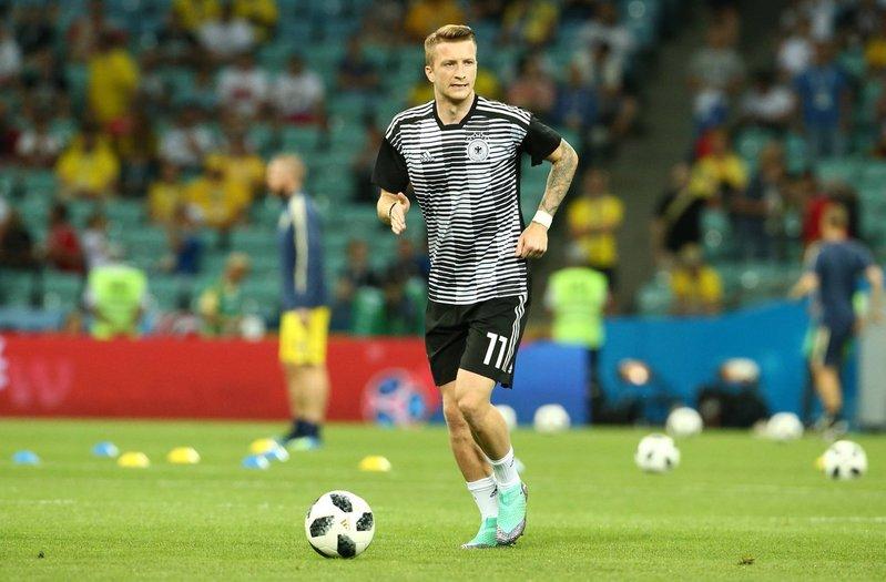 Reus preparado para el partido. DFB_Team_EN