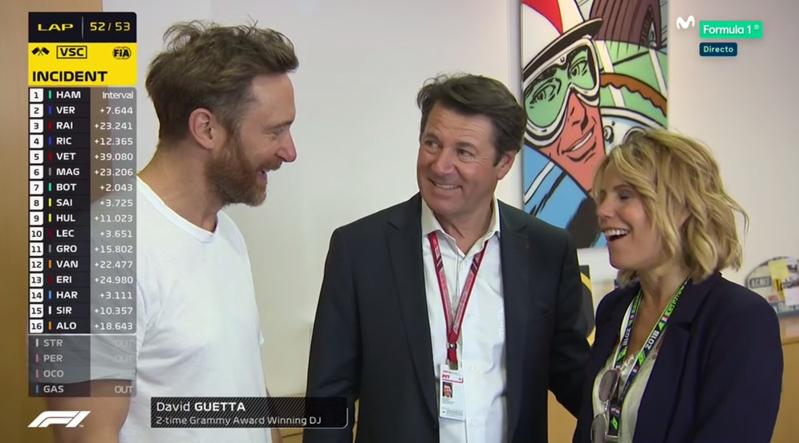 David Guetta en el GP de Francia de F1 2018.