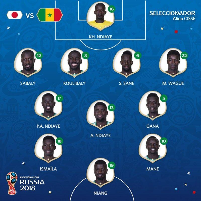 Así sale Senegal. fifaworldcup_es