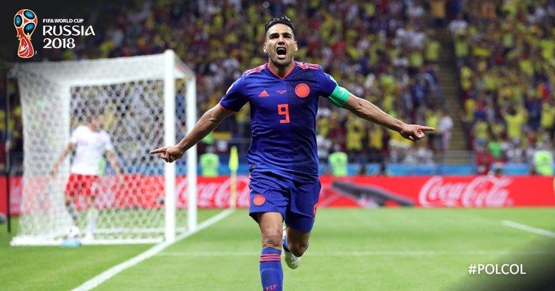 Así celebró Falcao el 0-2. FIFAWorldCup