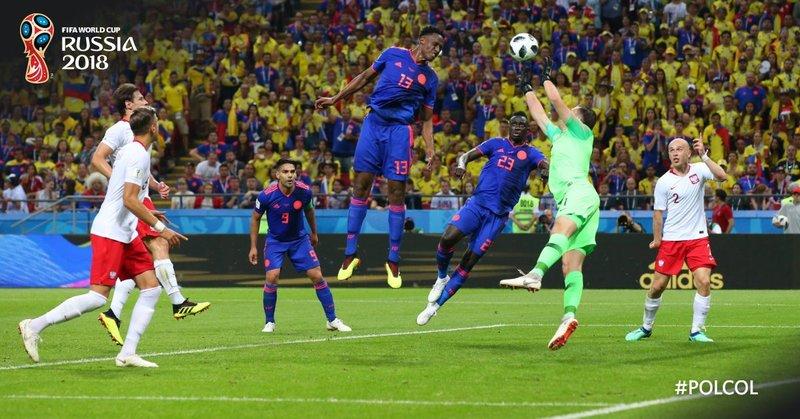Así fue el gol de Colombia. FIFAWorldCup