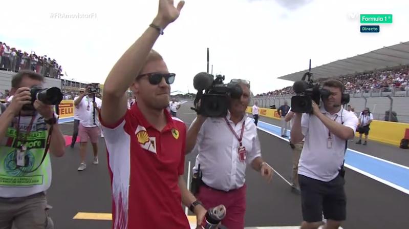 Vettel llegando tarde.