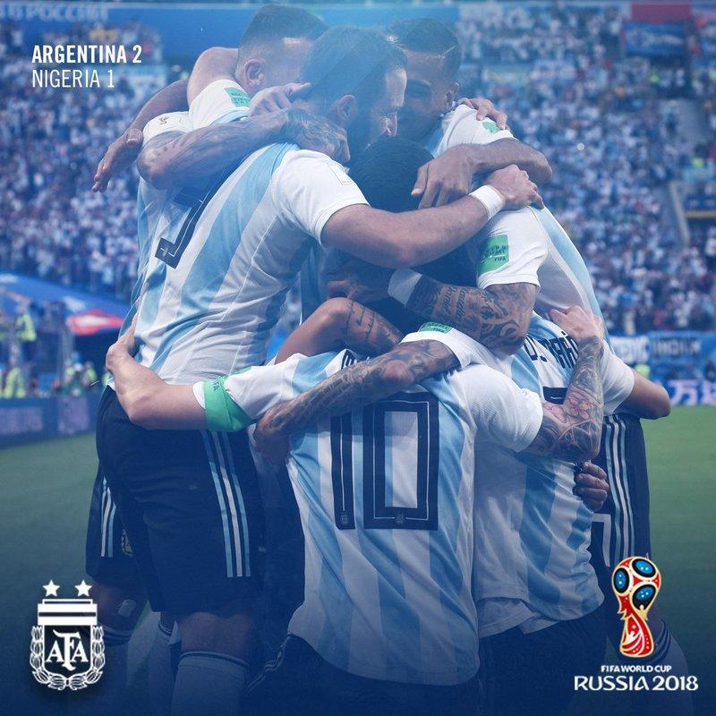 Así lo celebró Argentina. Argentina