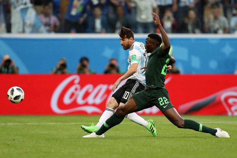 Momento del gol de Messi. Argentina
