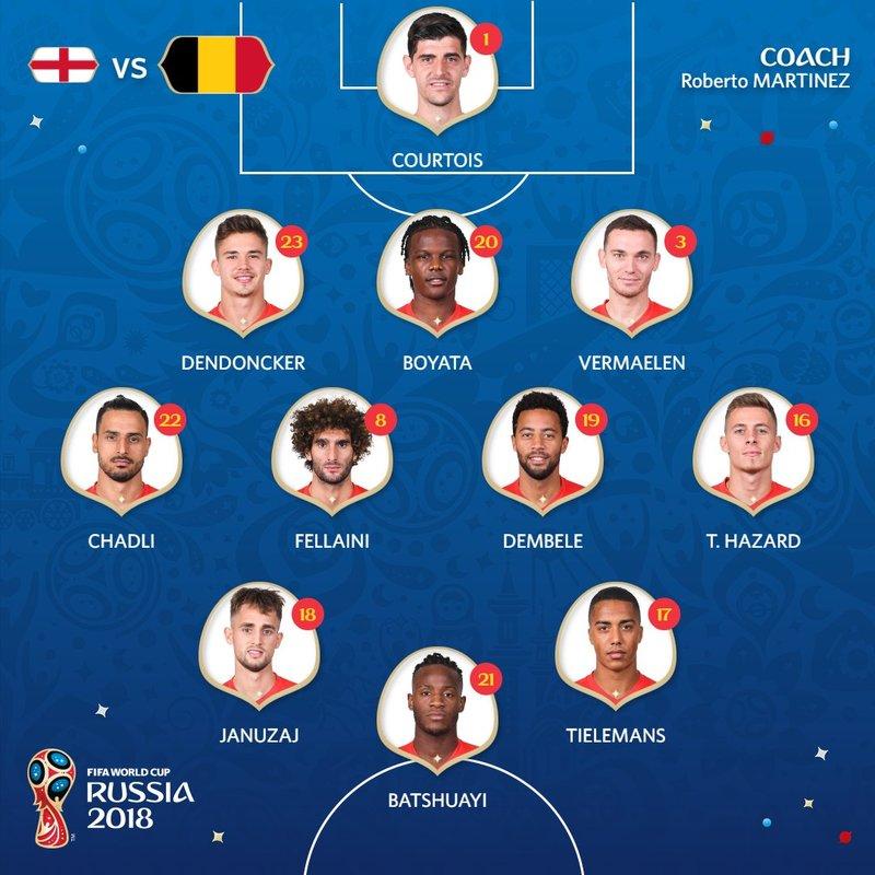 Así sale Bélgica. FIFAWorldCup