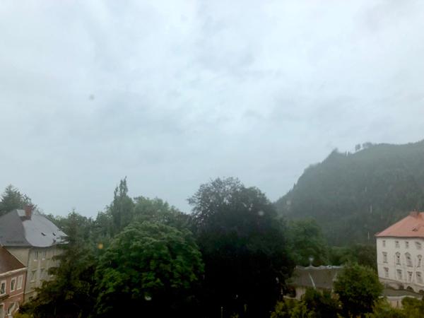 Buongiorno dall'Austria! Pioggia e 12º...