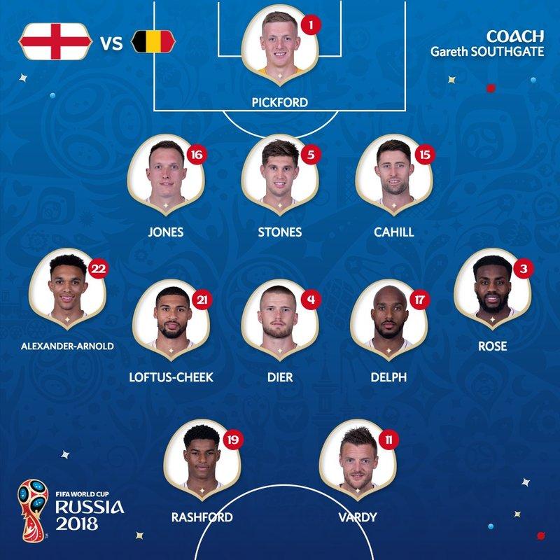 Así sale Inglaterra. FIFAWorldCup