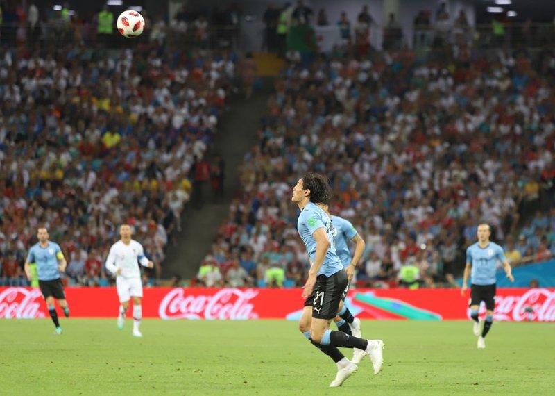 Cuarto gol de Cavani en una Copa del Mundo. Uruguay